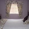 Bedroom Curtains, Pelmet Cushions and Throw