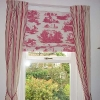 Bedroom Pink Blind and Curtains